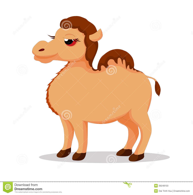 Camel So Cute Stock Vector.