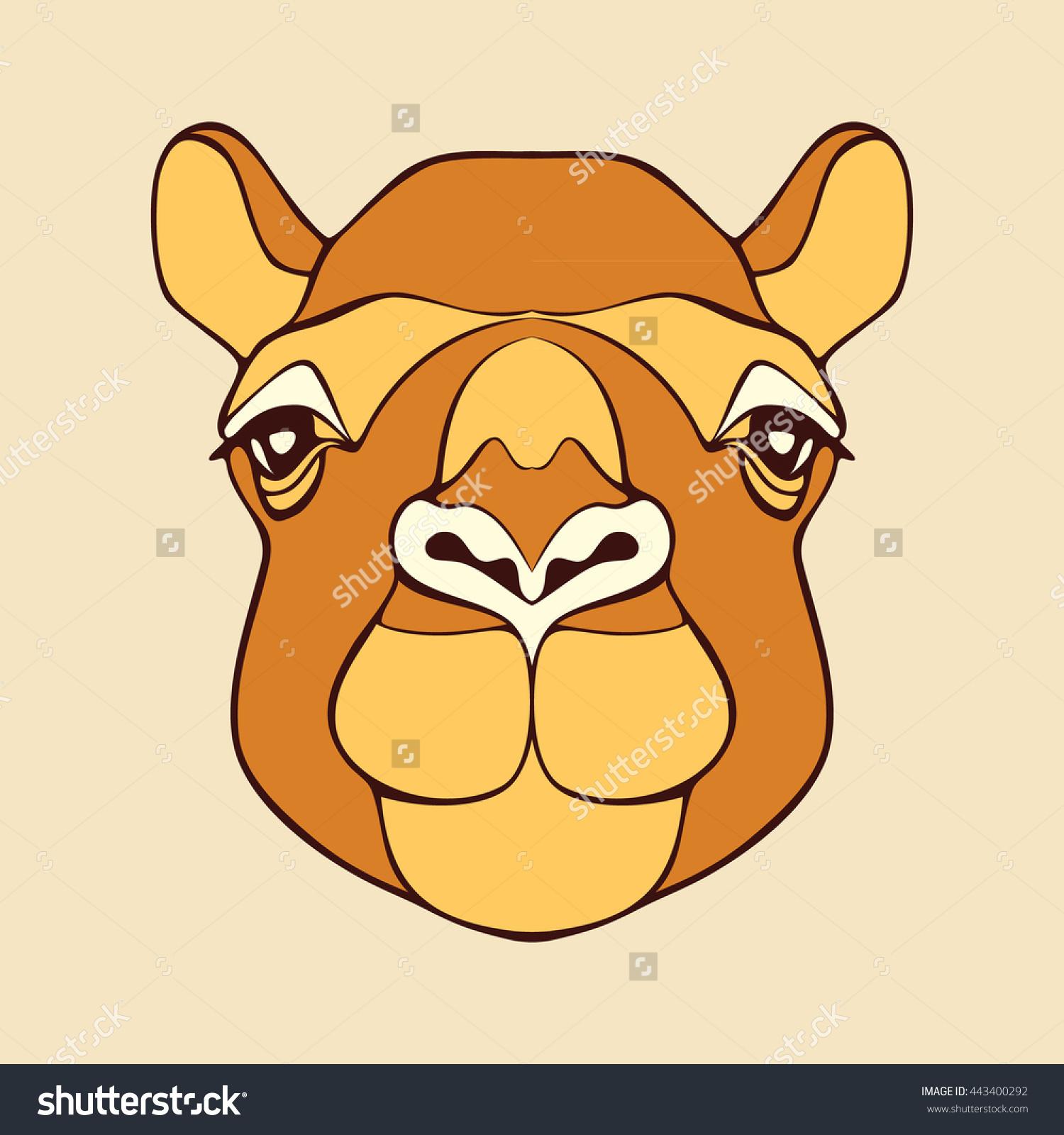 Camel head clipart #7