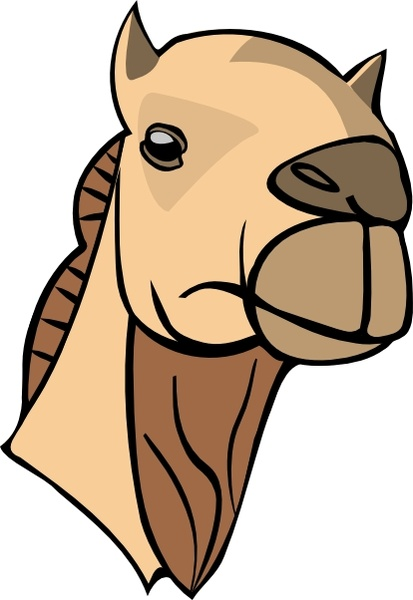 Camel Head clip art Free vector in Open office drawing svg ( .svg.