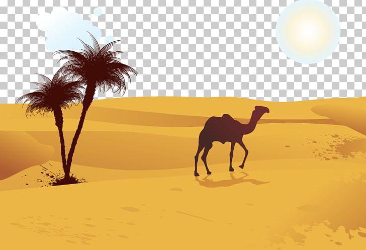 Camel Desert Computer File PNG, Clipart, Aeolian Landform, Animals.