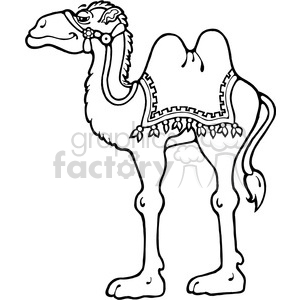 Camel Standing clipart. Royalty.