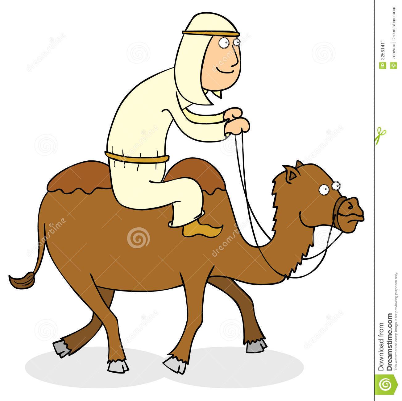 Camel Rider Stock Image.