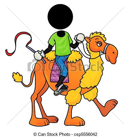 Clip Art of camel rider.