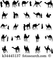 Camel train Clip Art Vector Graphics. 56 camel train EPS clipart.