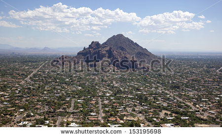 Camelback Mountain Stock Images, Royalty.