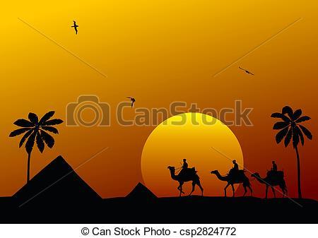 Clip Art of Cameleers.