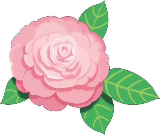 Pink Cartoon Flowers.
