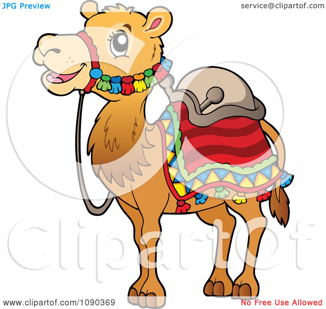 Clipart Saddled Camel.