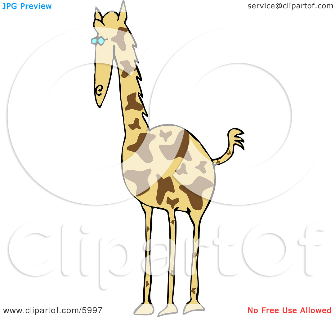 African Giraffe (Giraffa camelopardalis) Clipart Picture by Dennis.