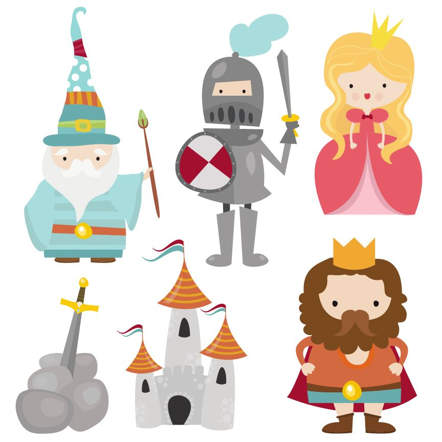 A #cute #Camelot #Characters #clipart set by Creative Clip.