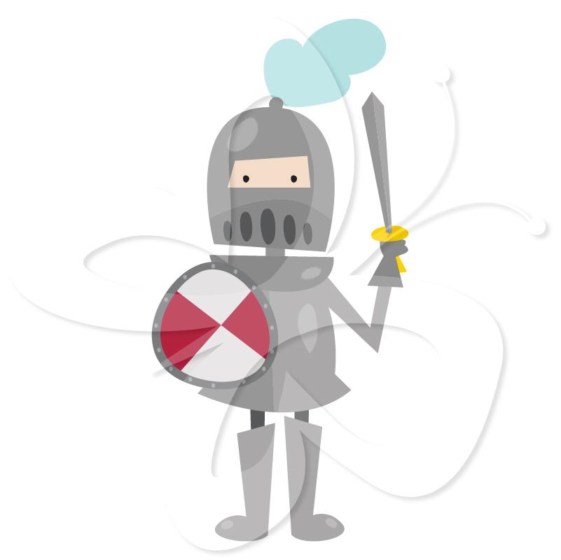 Camelot Characters Clip Art Set.