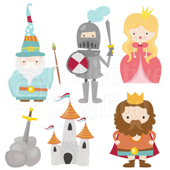 Little Camelot Digital Clip Art Clipart Set by CollectiveCreation.