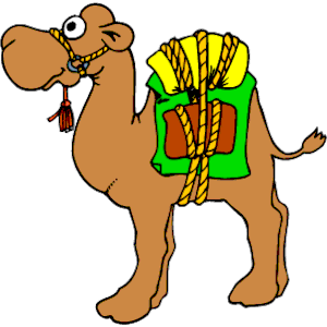 People Camels Clipart.