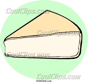 Camembert cheese Clip Art.