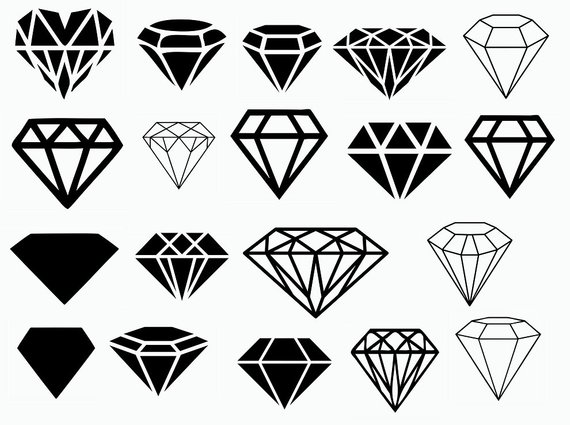 Diamond,svg cut files,silhouette clipart,vinyl files,silhouette.