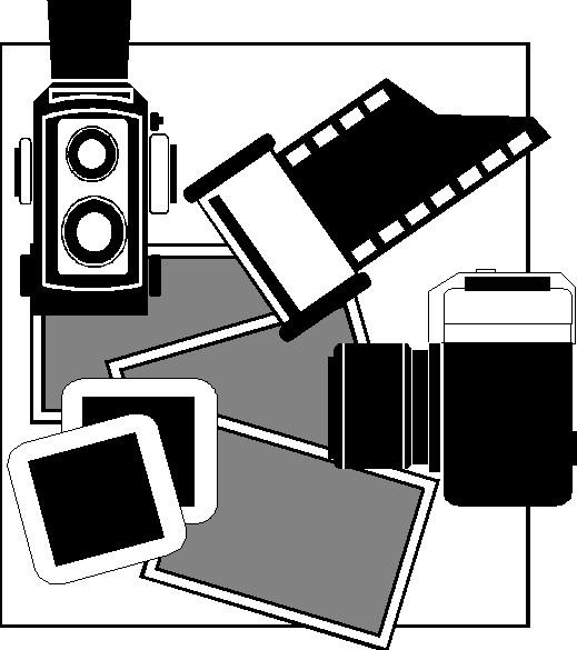 Camera accessories Clip Art.