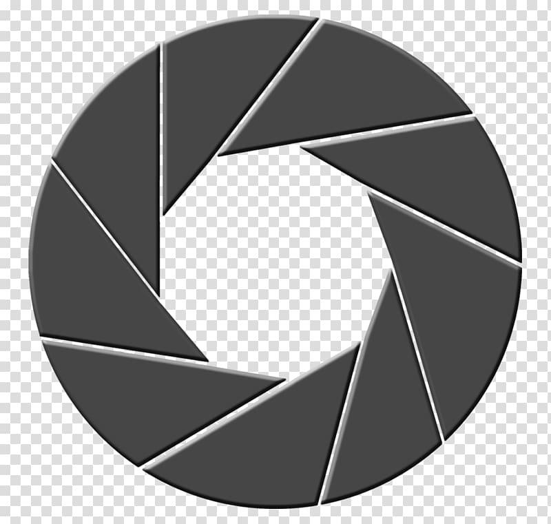 Round gray frame illustration, Aperture Camera Logo, Camera.