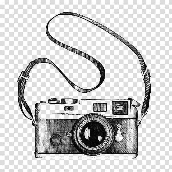 Black and gray camera illustration, Drawing Camera , camera.