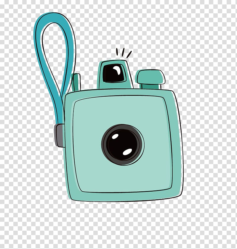 Camera Computer file, blue camera transparent background PNG.