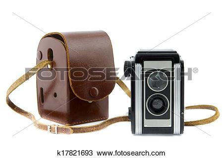 Stock Photo of brownie camera and camera bag k17821693.