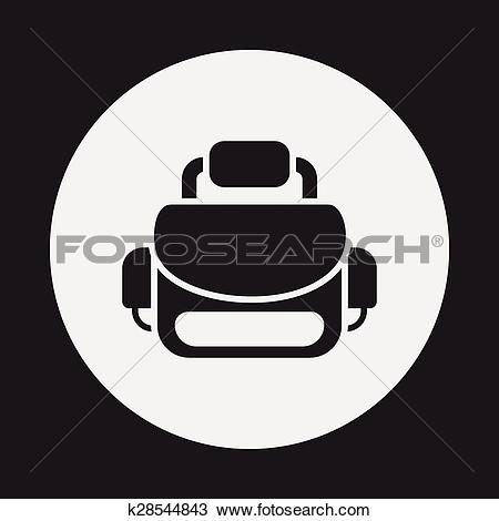 Clipart of camera bag icon k28544843.
