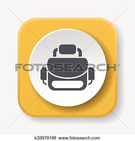 Clip Art of camera bag icon k33979199.