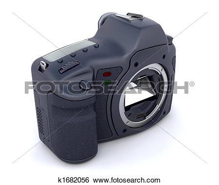 Stock Illustration of Digital SLR Camera Body k1682056.