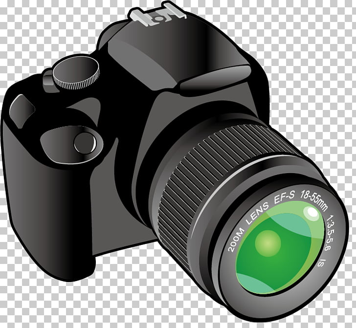 Camera lens , Cartoon high reflex camera PNG clipart.
