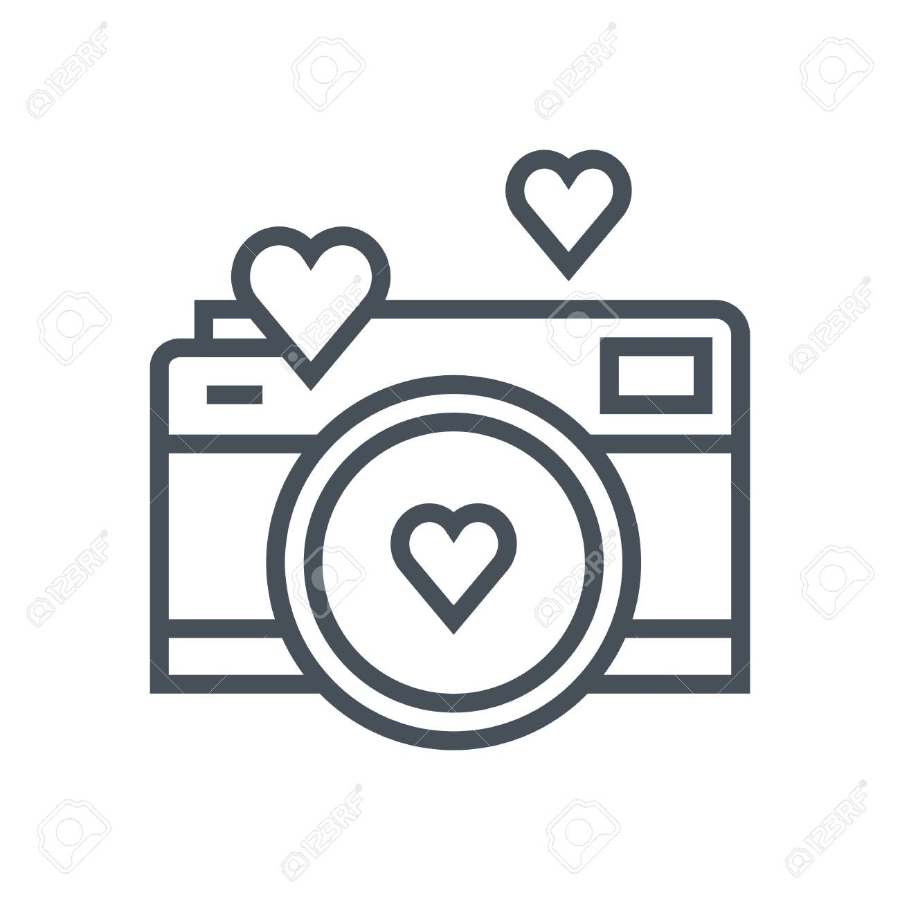 Valentines day camera icon suitable for info graphics, websites...