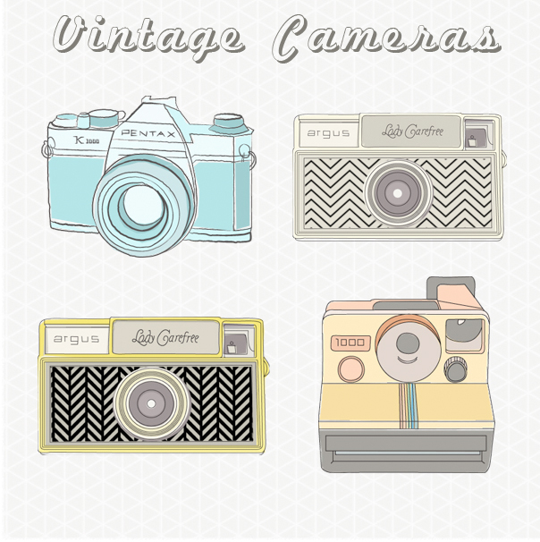 Vintage Camera Images / Vintage Camera Clip Art.