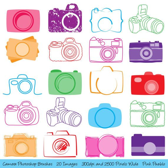 Camera Photoshop Brushes, Photography Photoshop Brushes.