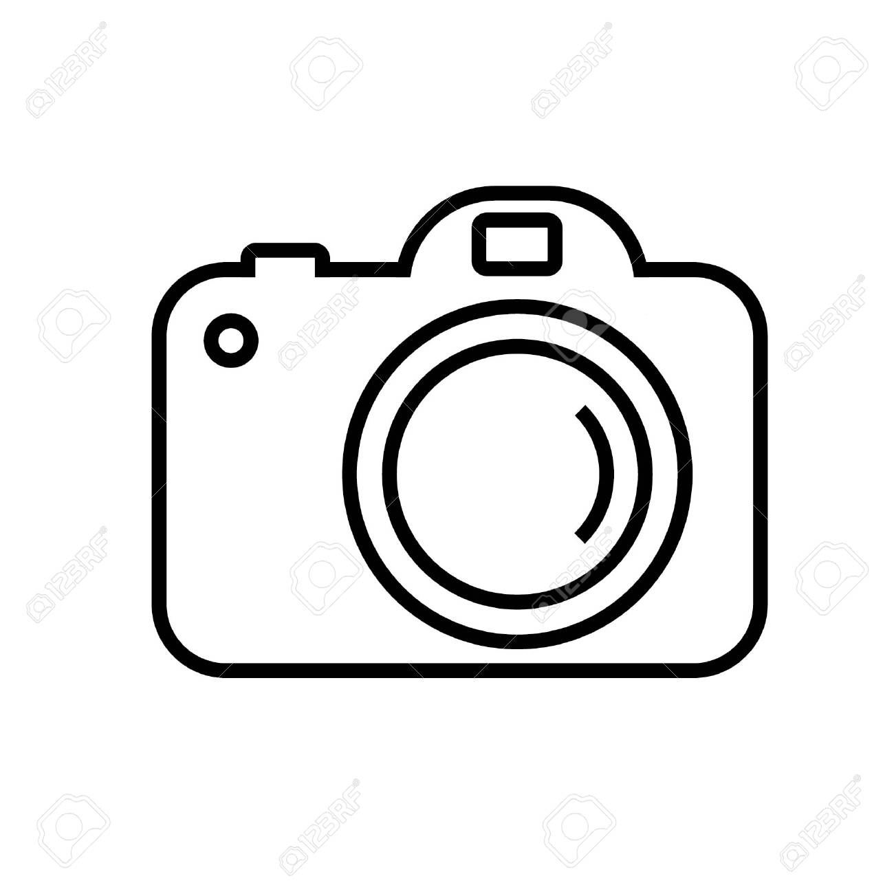 Digital Camera Clipart Black And White.