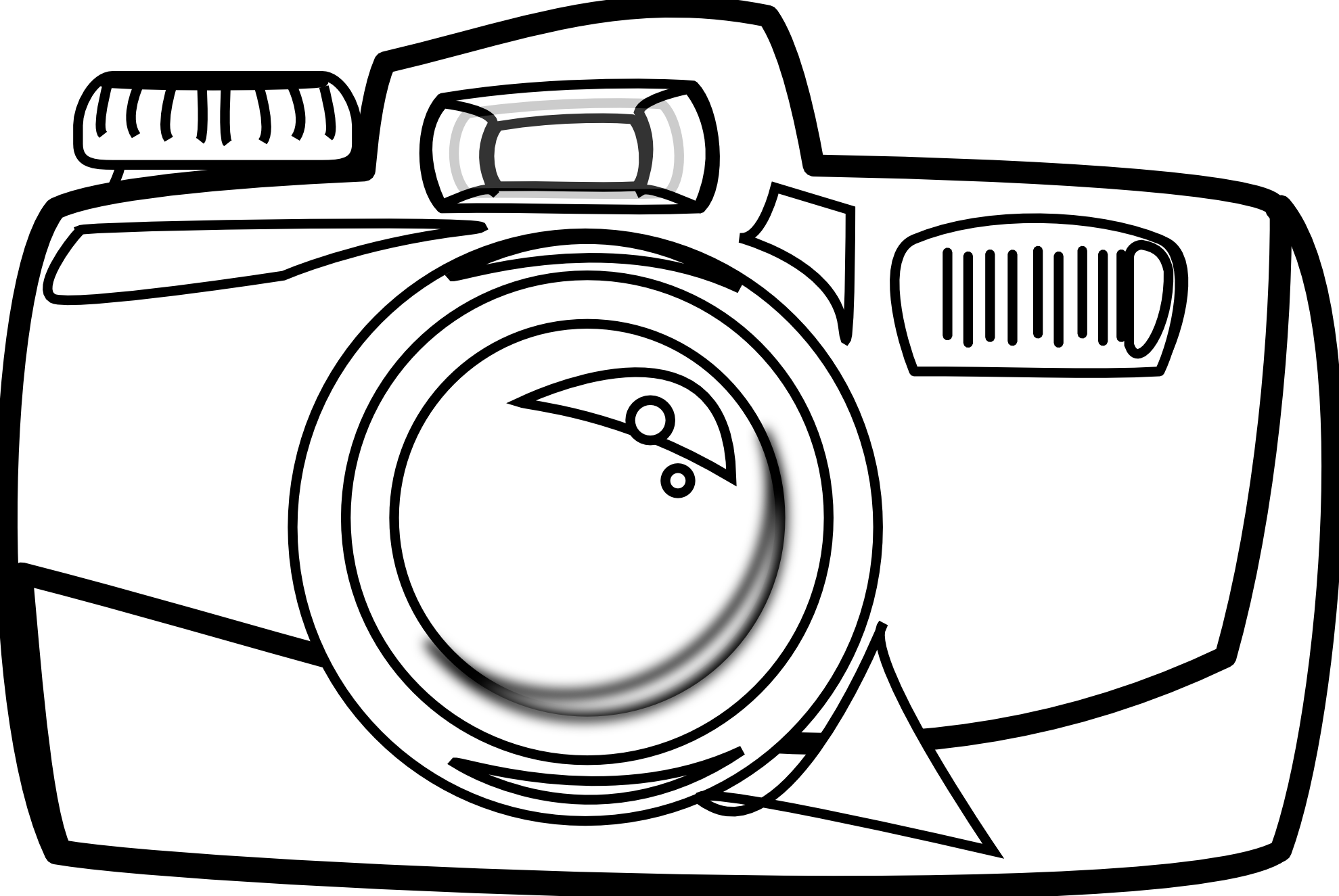 Free Camera Clipart Black And White, Download Free Clip Art.