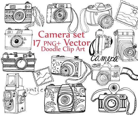 Camera Clipart Drawing.
