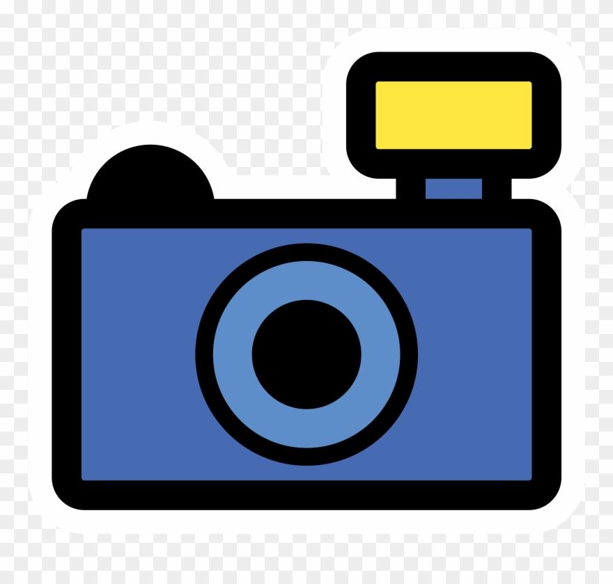 Blue Camera Clipart.