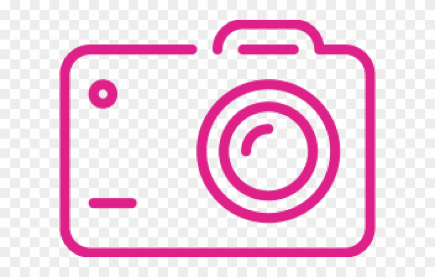 Camera Clipart Pink.