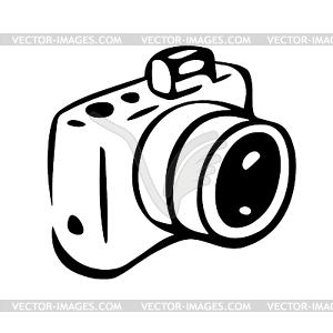 Photo camera drawing.