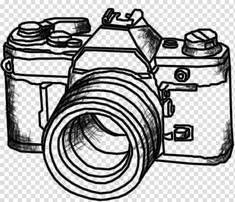 Graphic film Drawing Digital SLR Camera, drawing transparent.