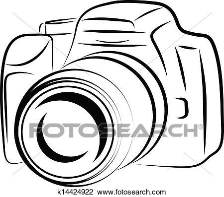 Contour Camera Drawing Clipart.