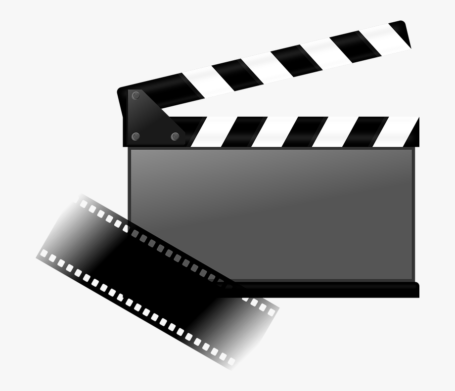 Clapperboard Clipart Movie Logo.