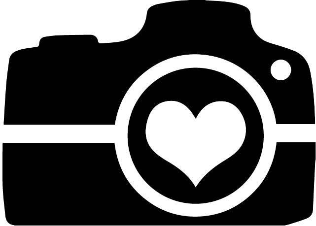 Heart clip art camera.