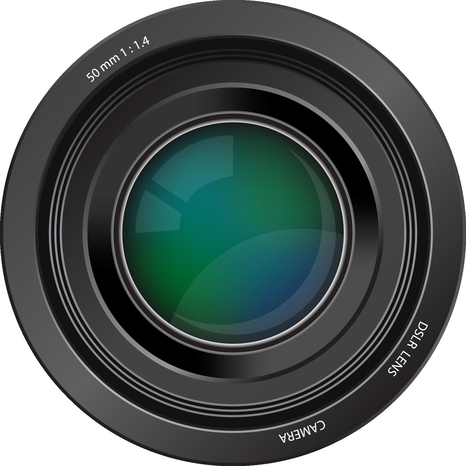 Camera lens free to use clip art.