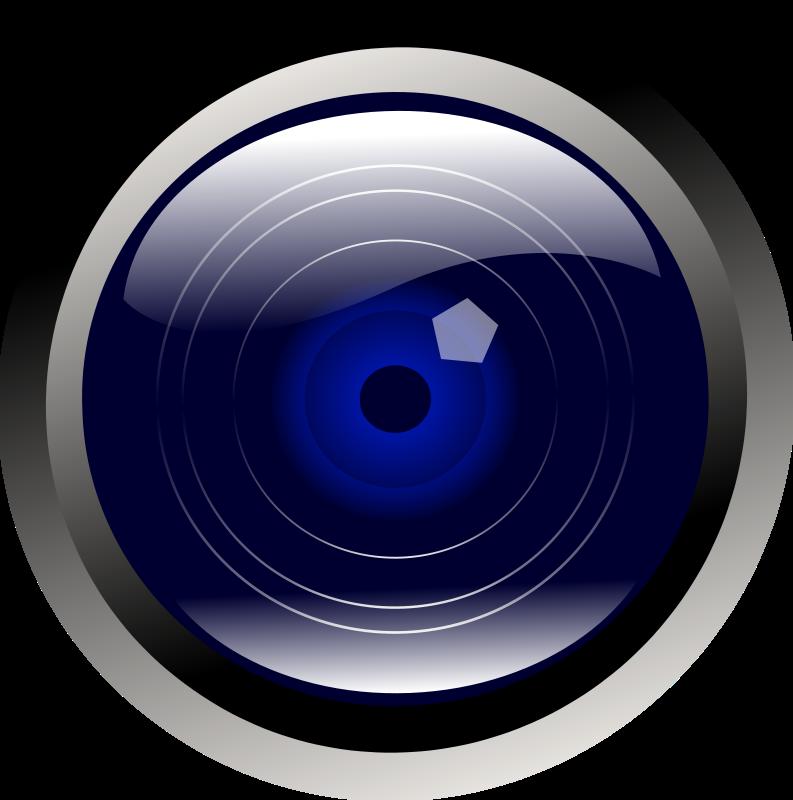 Free Clipart: Blue camera lens.