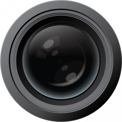 Canon camera lens clipart.