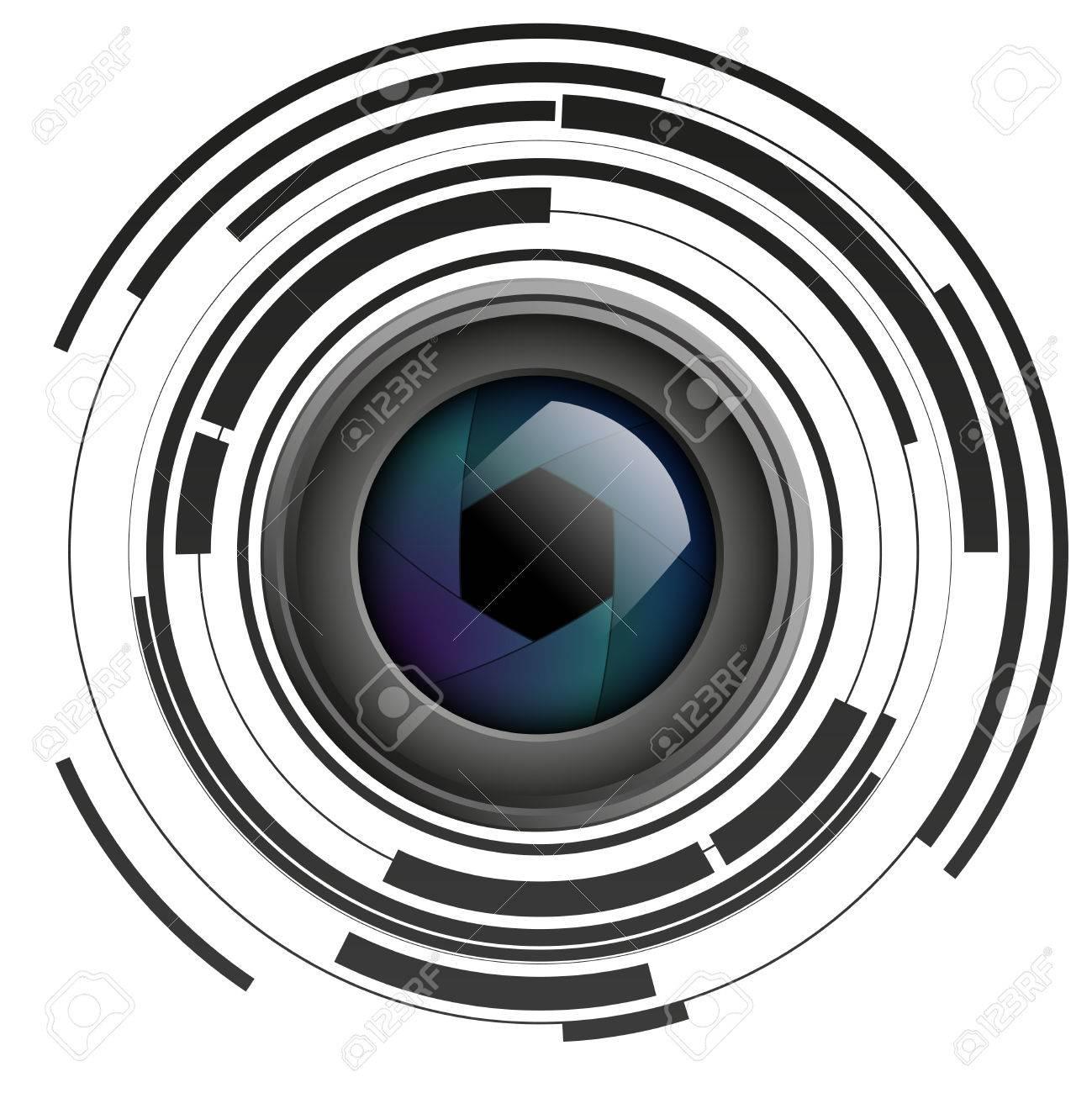 Camera Lens Clipart Vector.