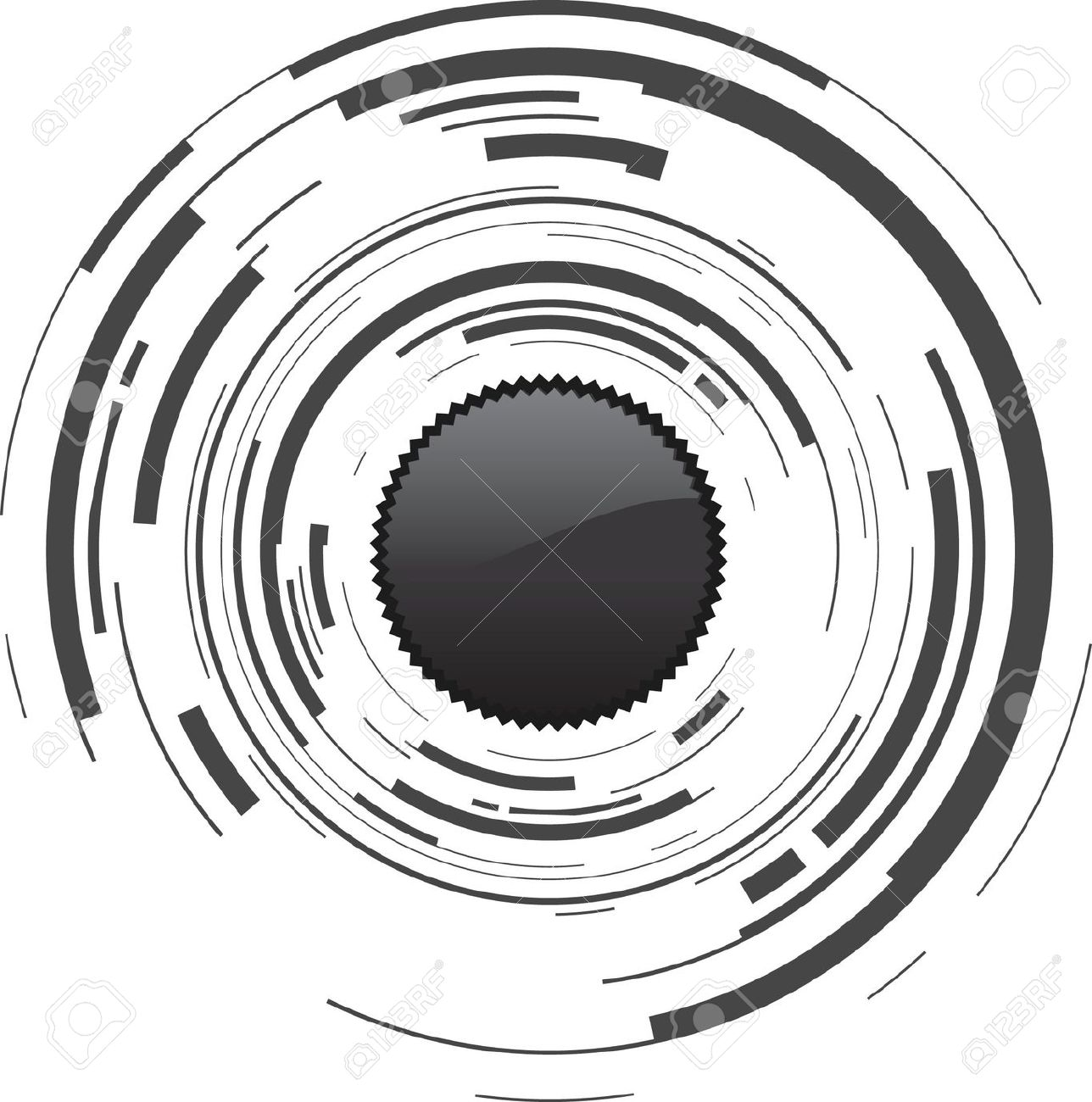 Camera Lens Clipart Black And White.