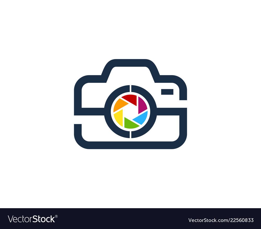 Lens camera logo icon design.