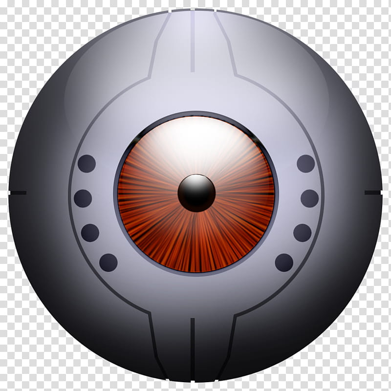 GLaDOS Icons, Glados_Ball_Red, round grey and red security.