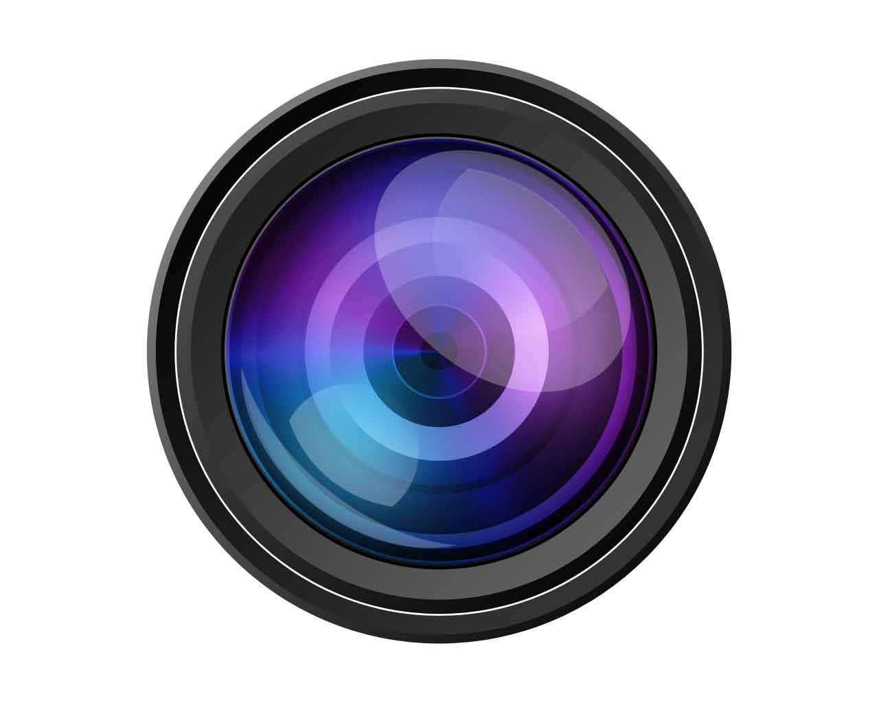 Download Free png Camera lens vector clipart.