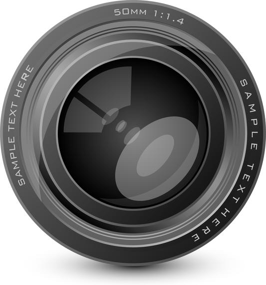 Hd Camera Lens Vector.